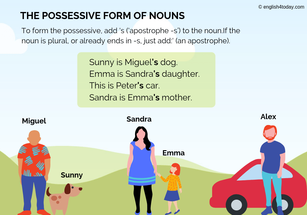 The possessive form of nouns - English4Today
