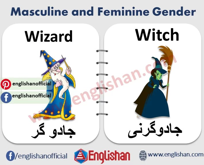 100 Examples Of Masculine And Feminine Gender List