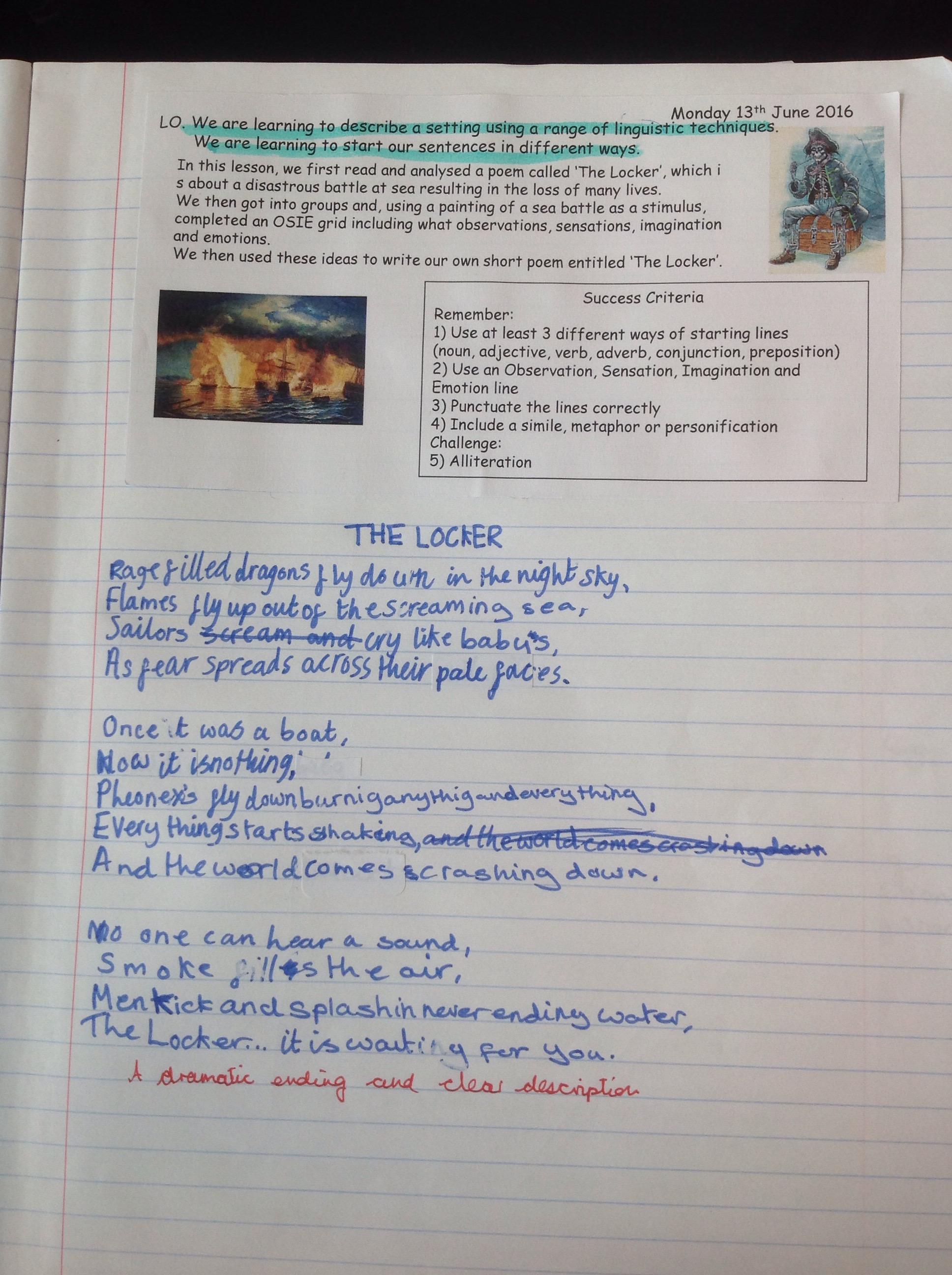 Explanation Writing Planning Year 6