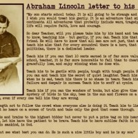 Abraham Lincoln's Famous Letter to His Son's Teacher