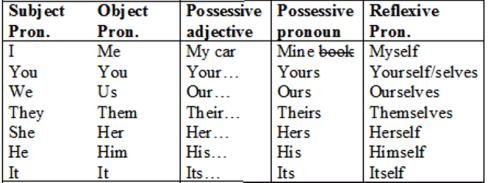 Daftar Pronoun