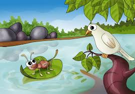 Contoh Narrative Text- The Ant and The dove