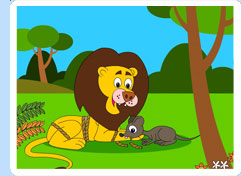 Contoh Narrative Text- The lion and the Mouse