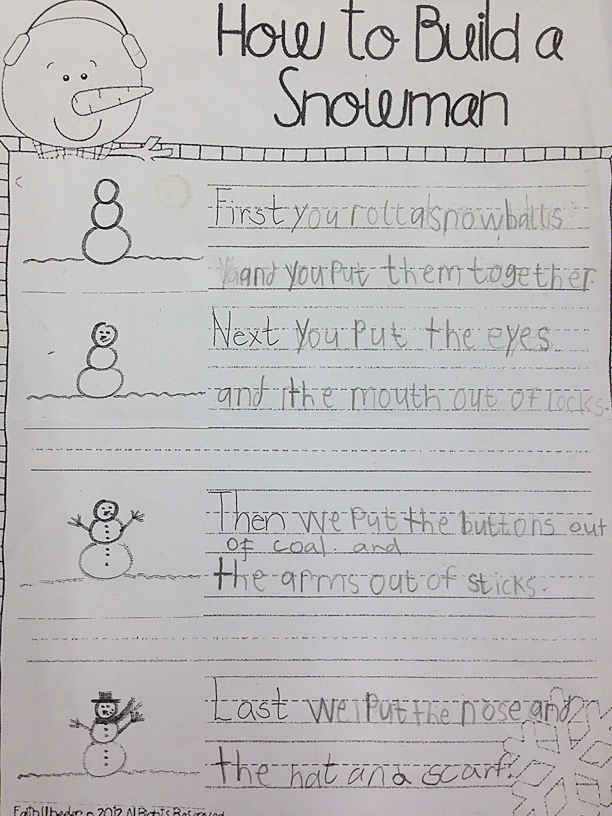 Snowman Month English Classes At Cygnaeus School