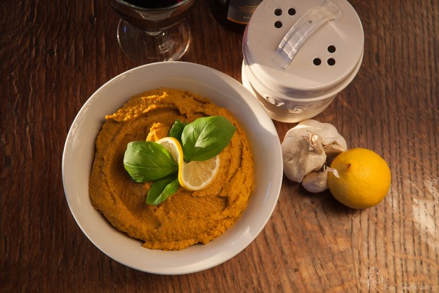 Carrot Hummus © Sue Todd 2015.