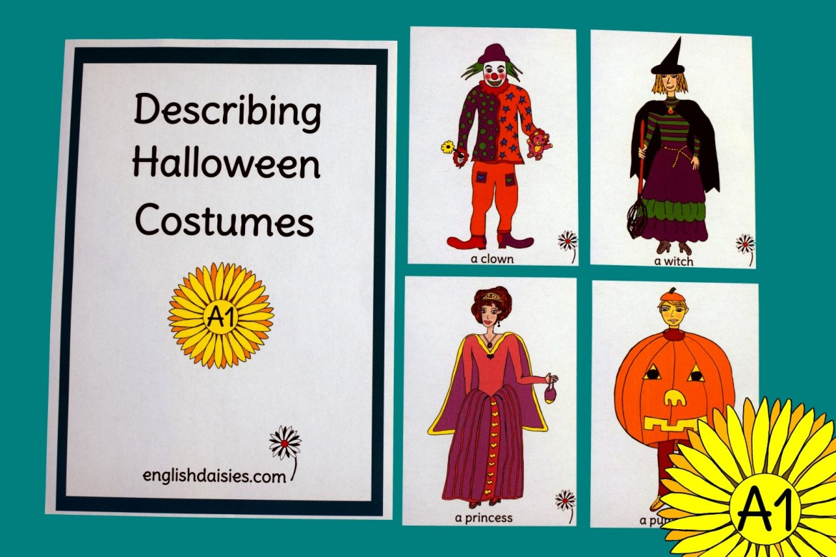 halloween costumes for describing people and objects in english