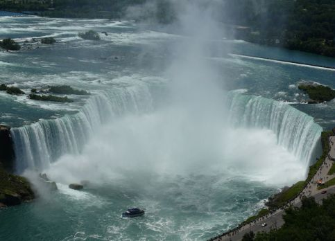 Niagara Falls, or 'Horseshoe Falls' as it is also known. For obvious reasons