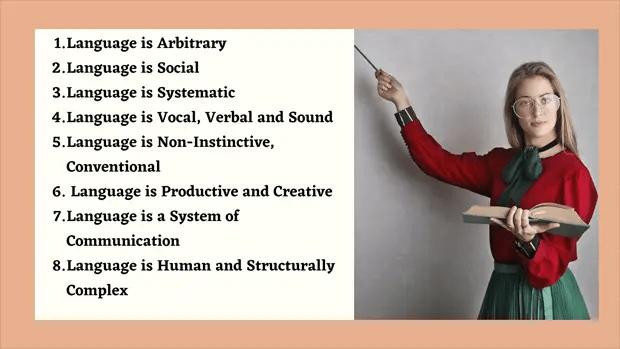 Characteristics of language