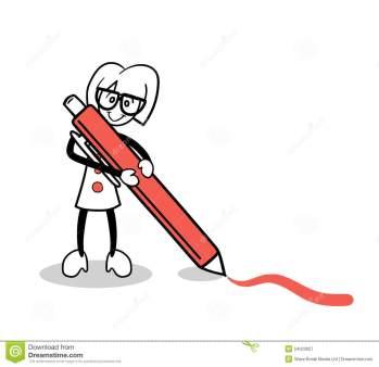 cute-cartoon-drawing-red-pen-digitally-generated-54023927