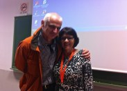 Hugging the life out of ex-TESOL-SPAIN president, Annie MacDonald.