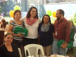 ITCA - FEPADE CCI Coordinators Karla Ferrer , Sara Gomez and Victor Castellanos receive recognition for their constant support to ITCA .