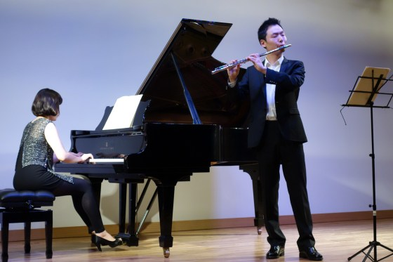 F. Schubert - Variations on Dry Flowers - No Young-joo (flute), Ahn Hyelim (piano) - PHOTO: Charles Ian Chun