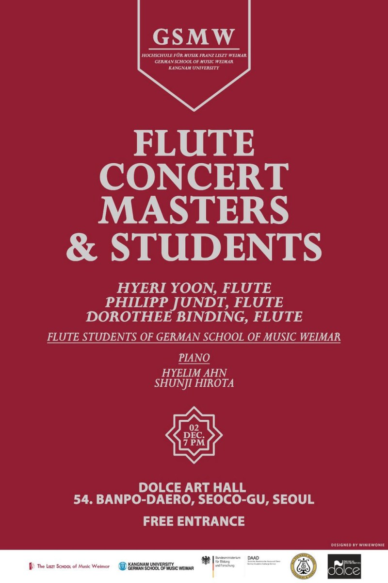GSMW Flute Concert: Masters & Students