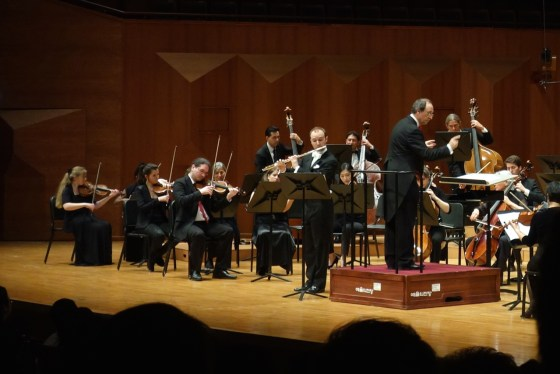 German School of Music flute professor Philipp Jundt's marvelous performance of Rodrigo's Concierto Pastoral at Seoul Arts Center April 25 was just one of several career-defining moments along his tour of Asia with the New Zürich Orchestra, cond. Martin Stüder. (Photo: Charles Ian Chun)