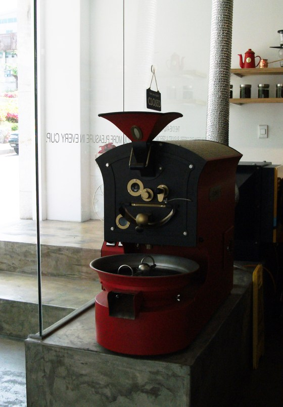 Kohinoor's coffee roaster (PHOTO: Kim Da-hye)