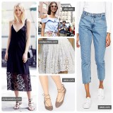 Spring fashions for 2016. Sources: stylesweekly.com, elle.com, asos.com, coolspotters.com