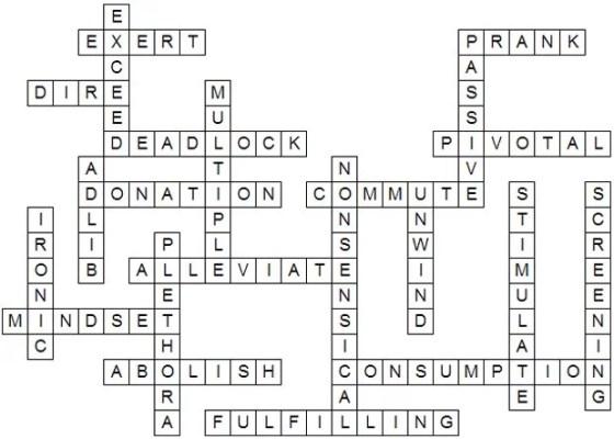 Vocab Challenge Answers 7 November 2012