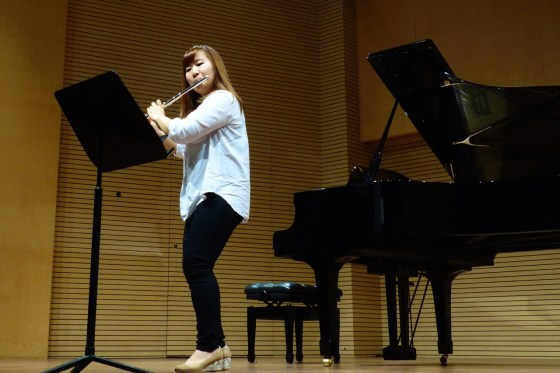 GSMW 4th-year student Dayeon Oh performs Varese's Density 21.5 for Solo Flute. (Photo: Charles Ian Chun)