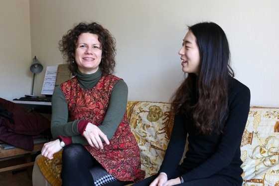 German School of Music violin professor Viktoria Kaunzner and student Juhee Im