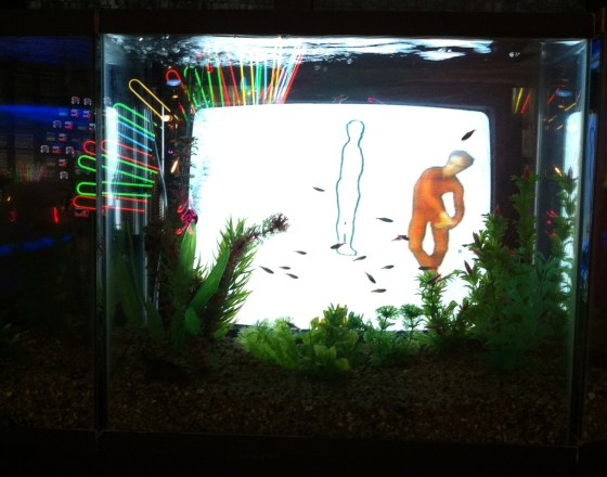 "Paik Nam-june's ""TV Fish"" (PHOTO: Lee Su-hyun)"