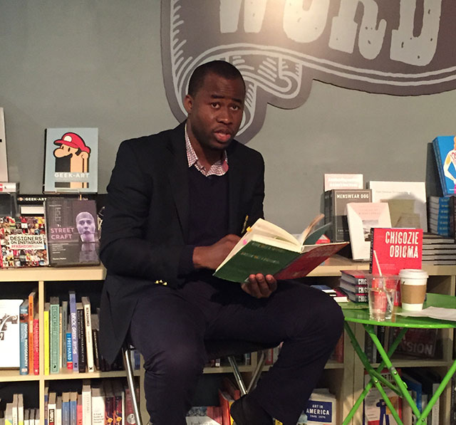 Chigozie Obioma reads from the Fishermen, his debut novel about four boys