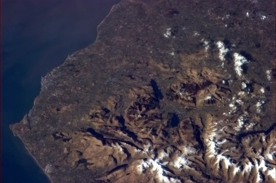 Lake District from Space
