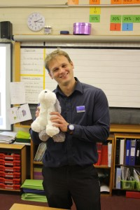 Gary Tennant, Restaurant and Bars Manager, Lancaster House takes Sam into the school
