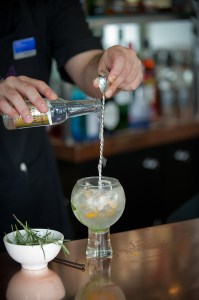 Specialist gin cocktail handcrafted at Waterhead