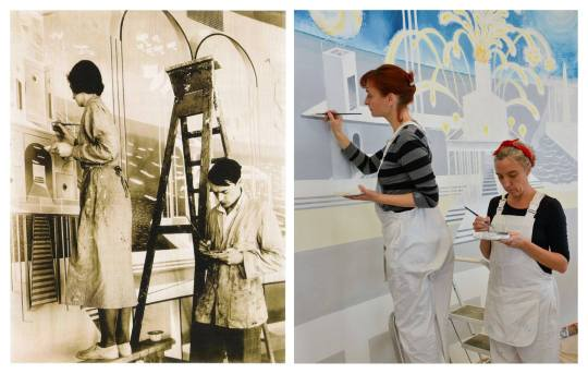 History repeating itself. Eric and Tirzah Ravilious, 1933 and Jonquil Cook and Isa Clee-Cadman, 2013.