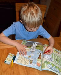 Children love the varied activities in the book
