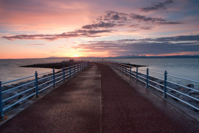 Morecambe Stone Jetty - the start of The Way of the Roses