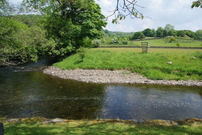 The River Kent at Staveley. Photo by: Bill Boaden