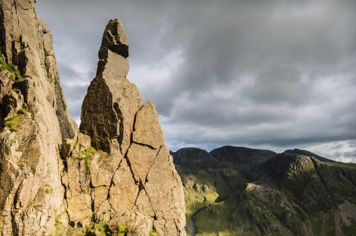Napes Needle situated on the southern flank of Great Gable