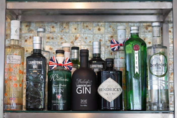 Williams Chase GB sits proudly in Waterhead's extensive gin collection