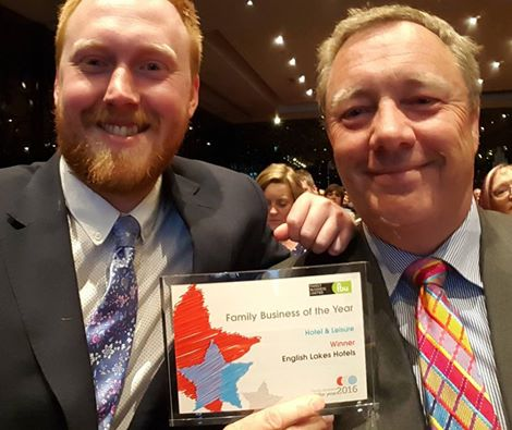 Simon and Ben Berry at the Family Business of the Year Awards