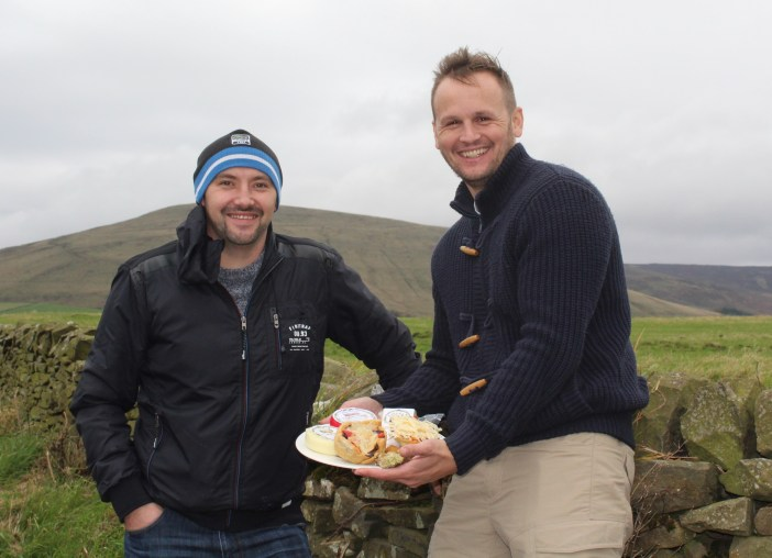 Head Chef, Damian (left) and F & B Manager, Gary, out on the trail for cheese