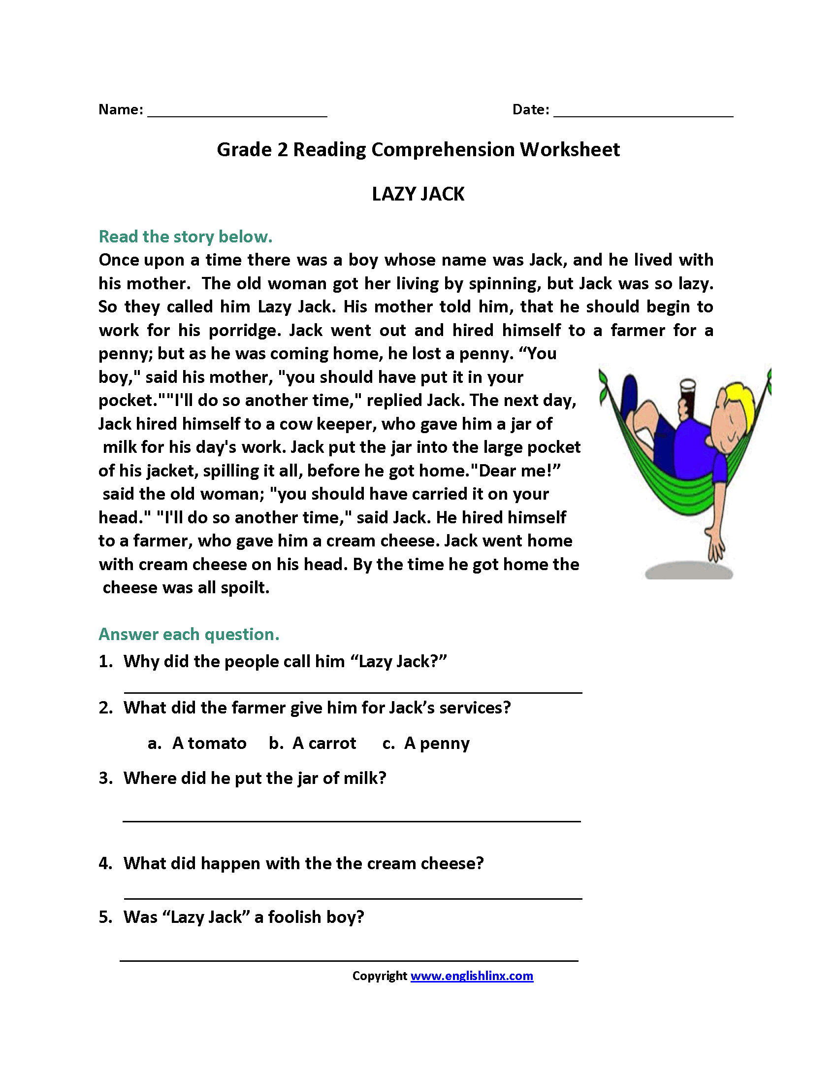 Second Grade Reading Homework Weekly Reading Homework 2nd