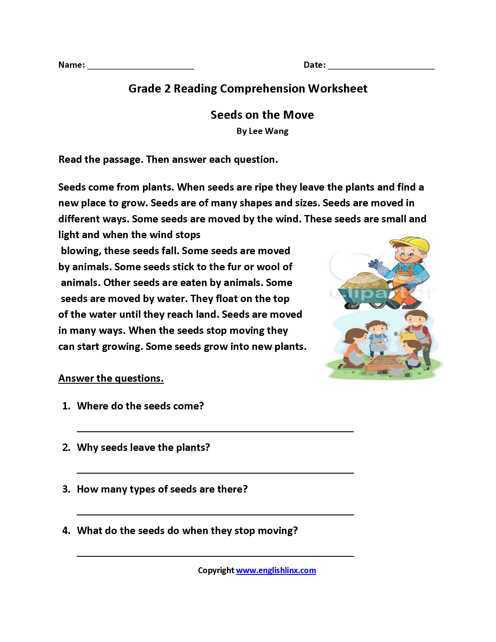 Reading Comprehension Homework Activities