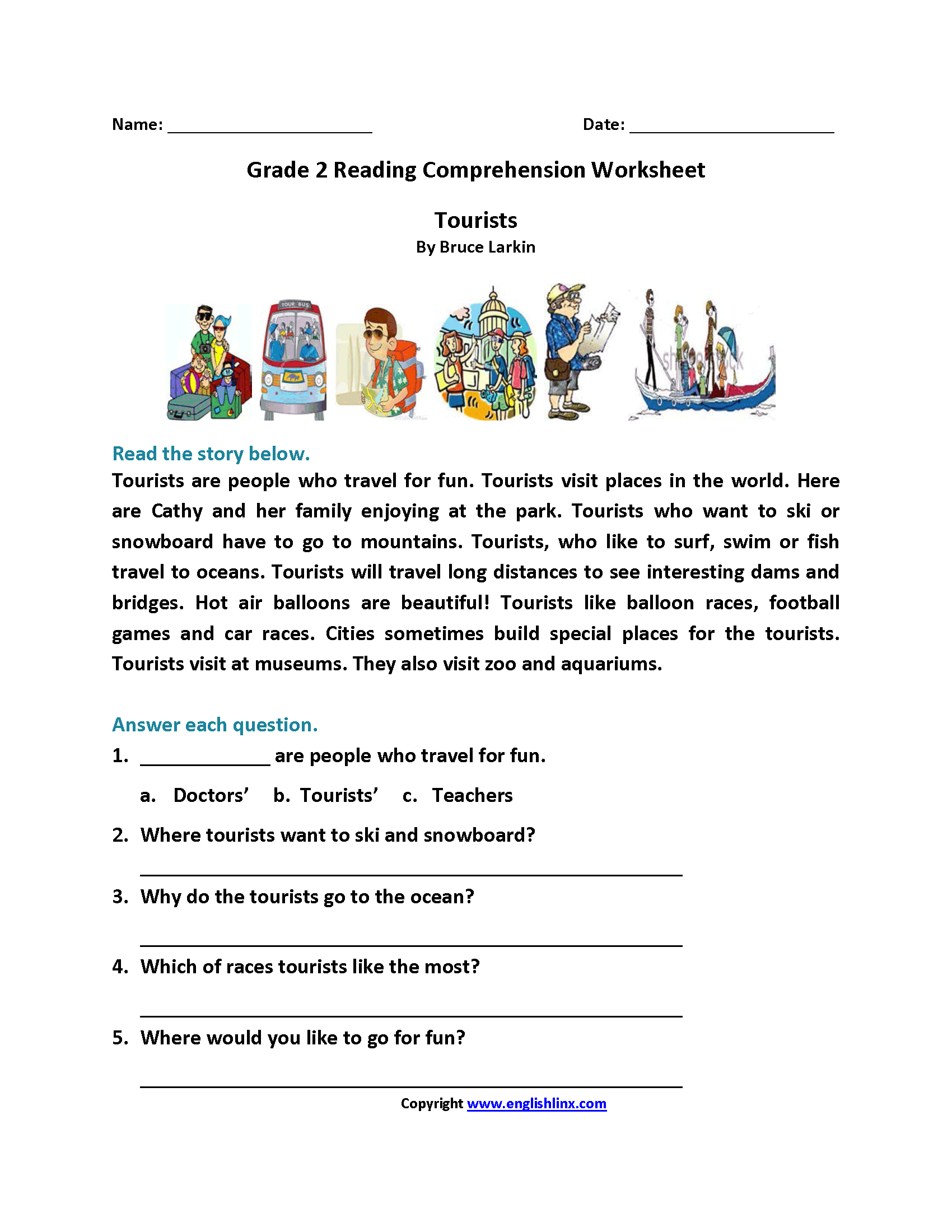 - Free Reading Comprehension Worksheet Grade 2 Printable