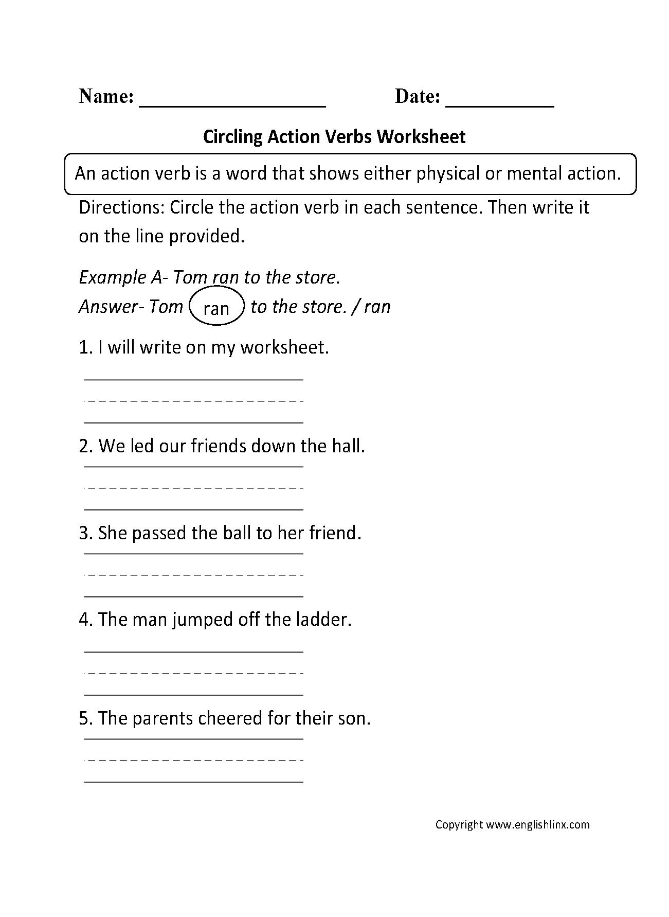 Worksheet Verb Worksheets For 2nd Grade Grass Fedjp Worksheet Study Site