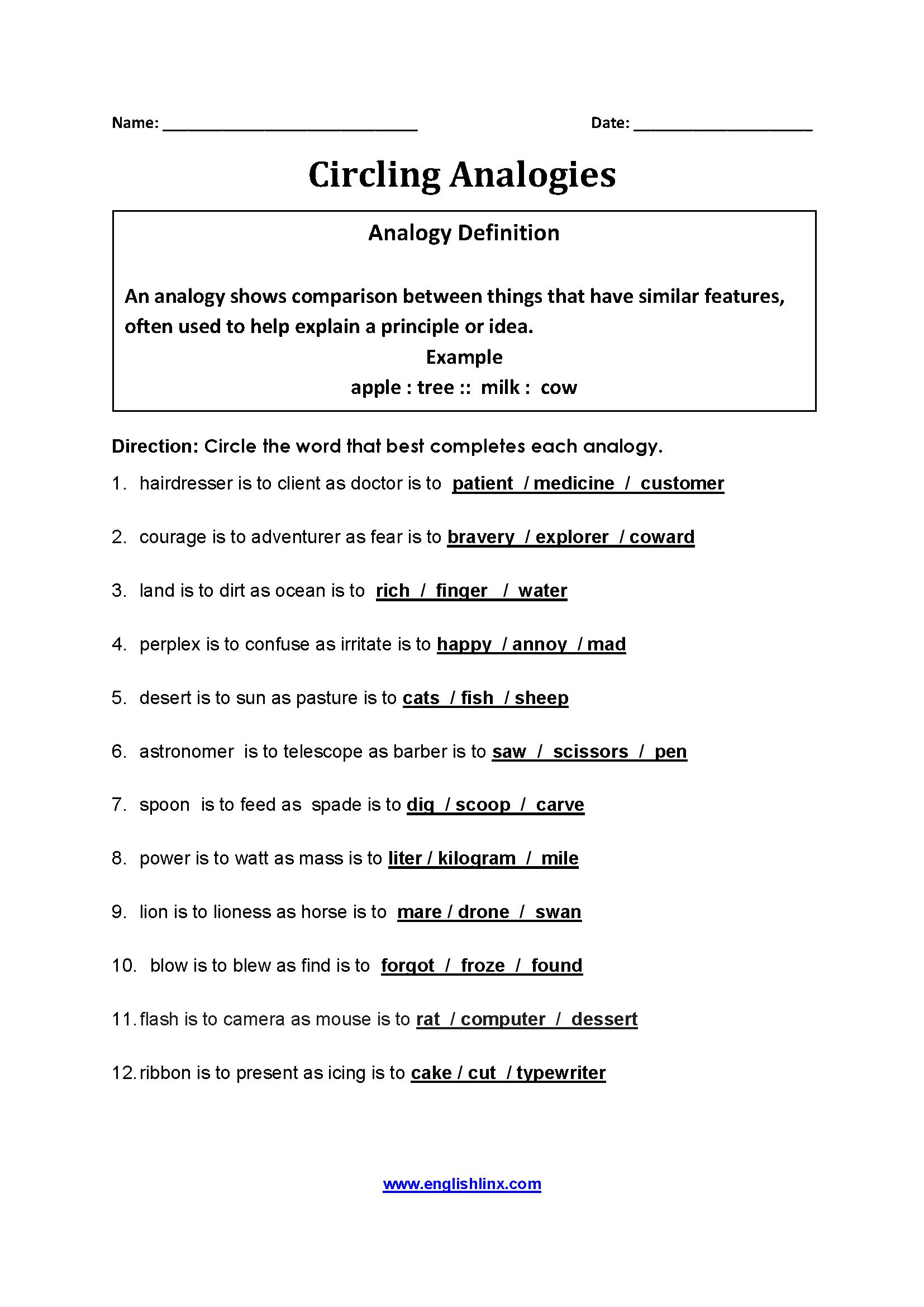 26 7th Gradeogies Worksheet