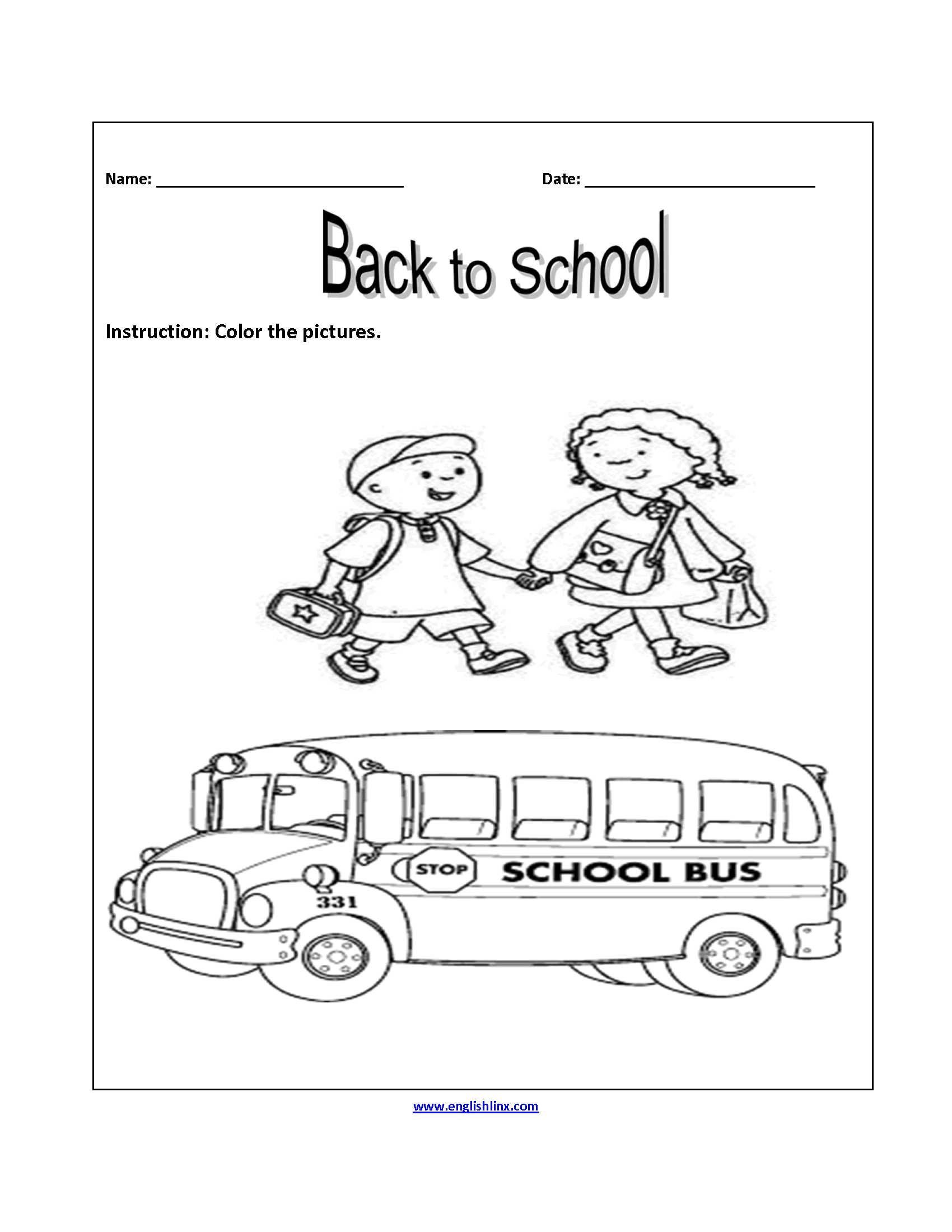 The Top 20 Ideas About Back To School Worksheets