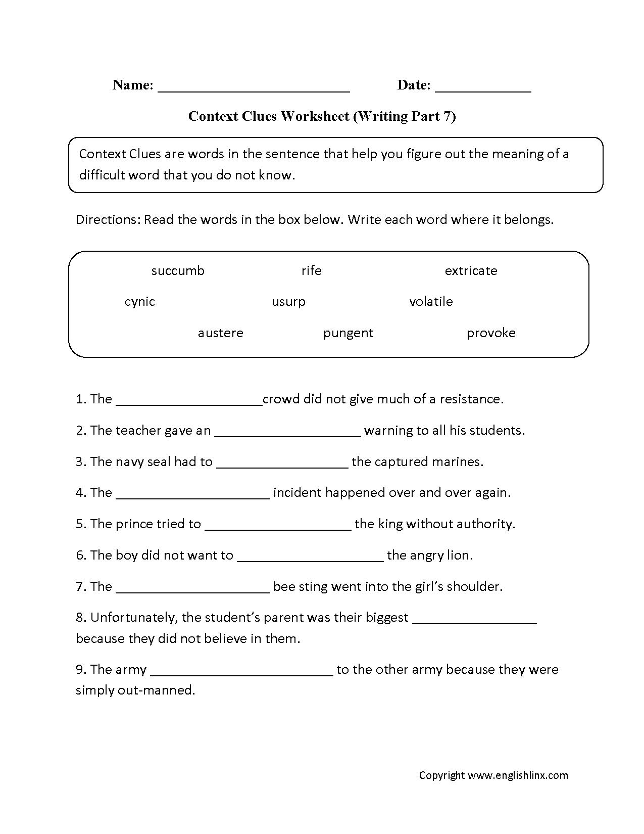 Vocabulary Power Answer Key Grade 7