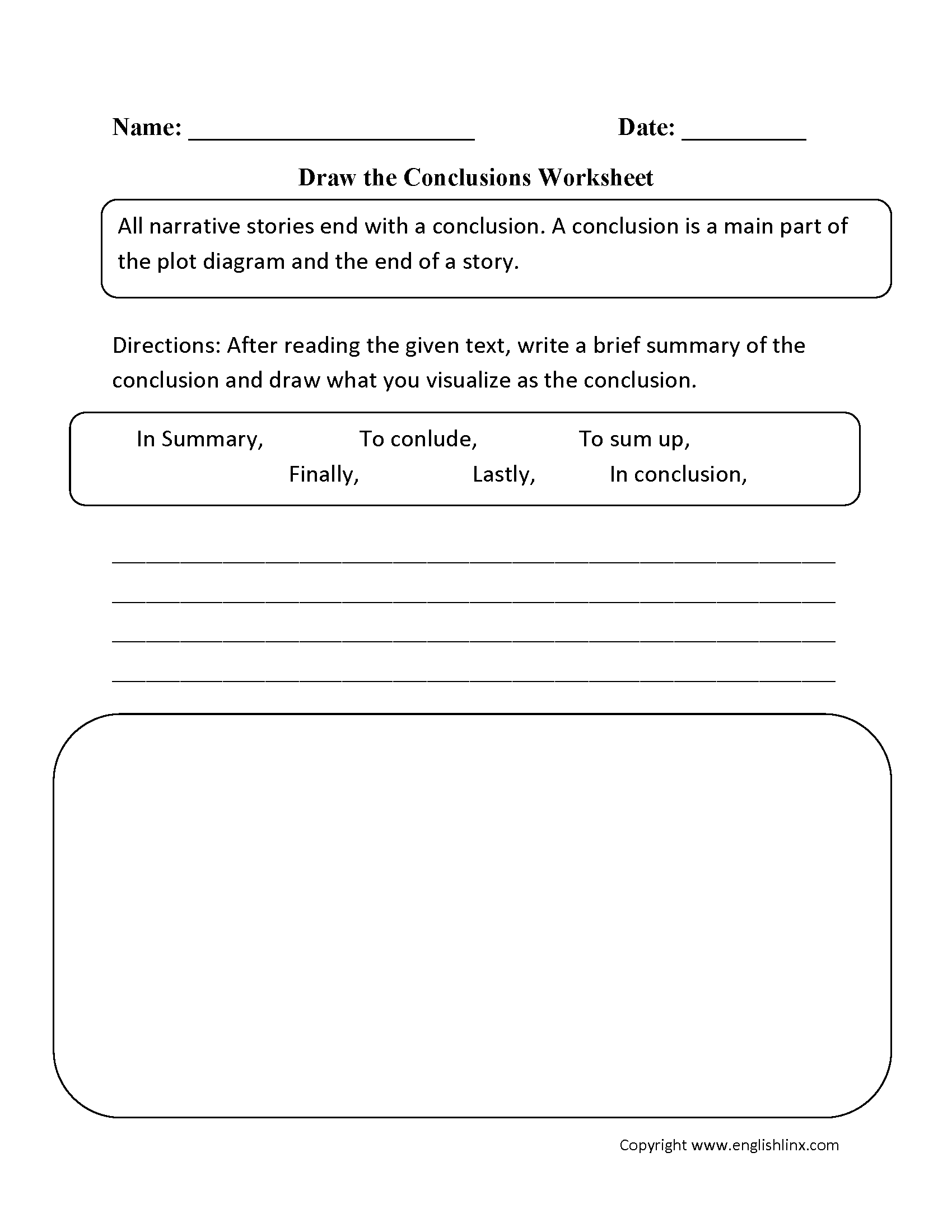 Transition Words Worksheet Middle School