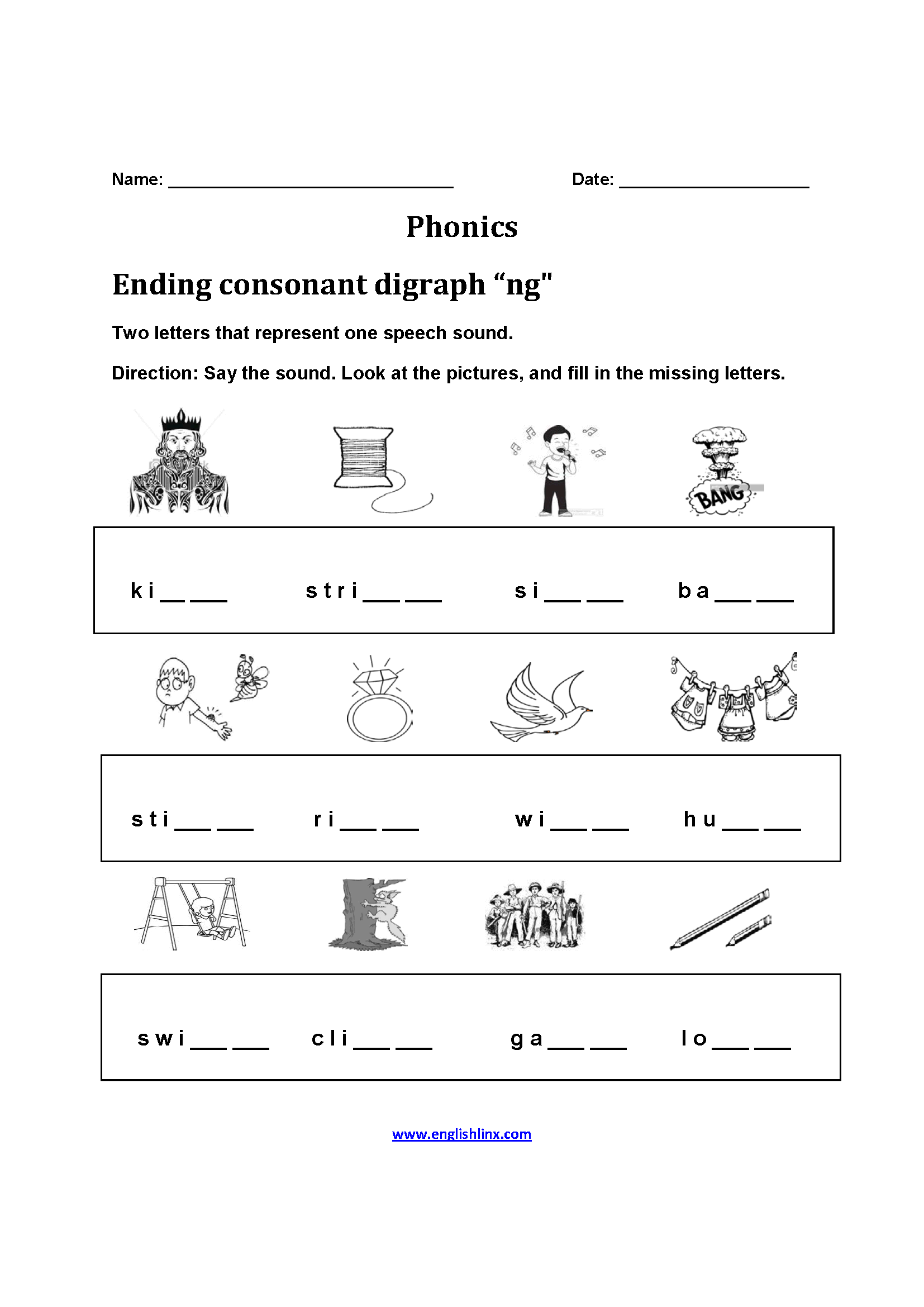 Satisfactory Printable Phonics Worksheet