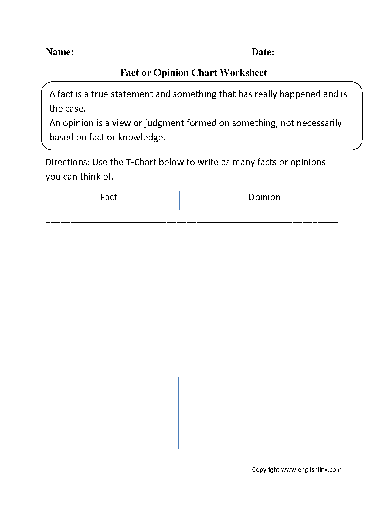 2nd Grade Fact And Opinion Worksheet