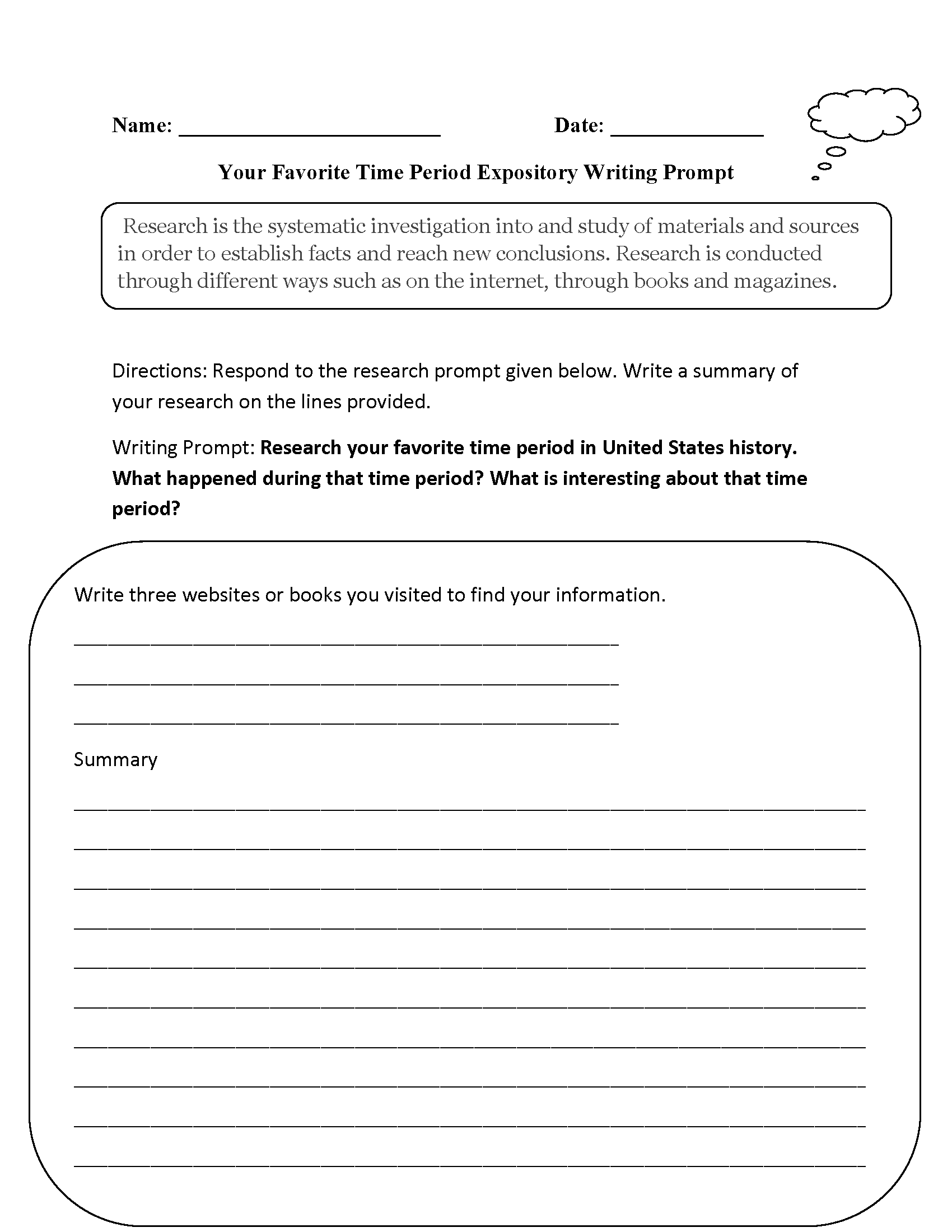 Expository Essay Writing Prompts