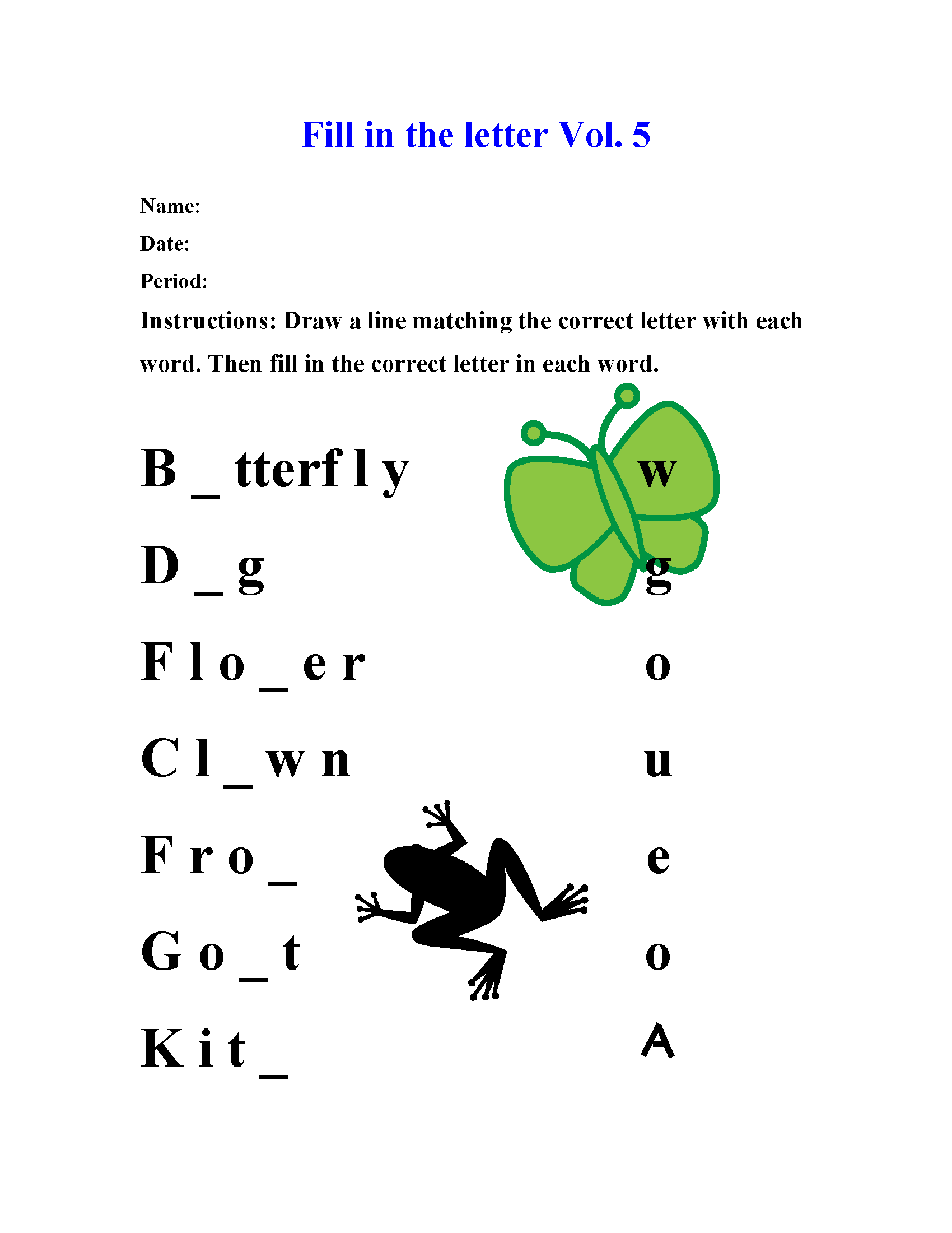 Year 5 English Spelling Worksheet