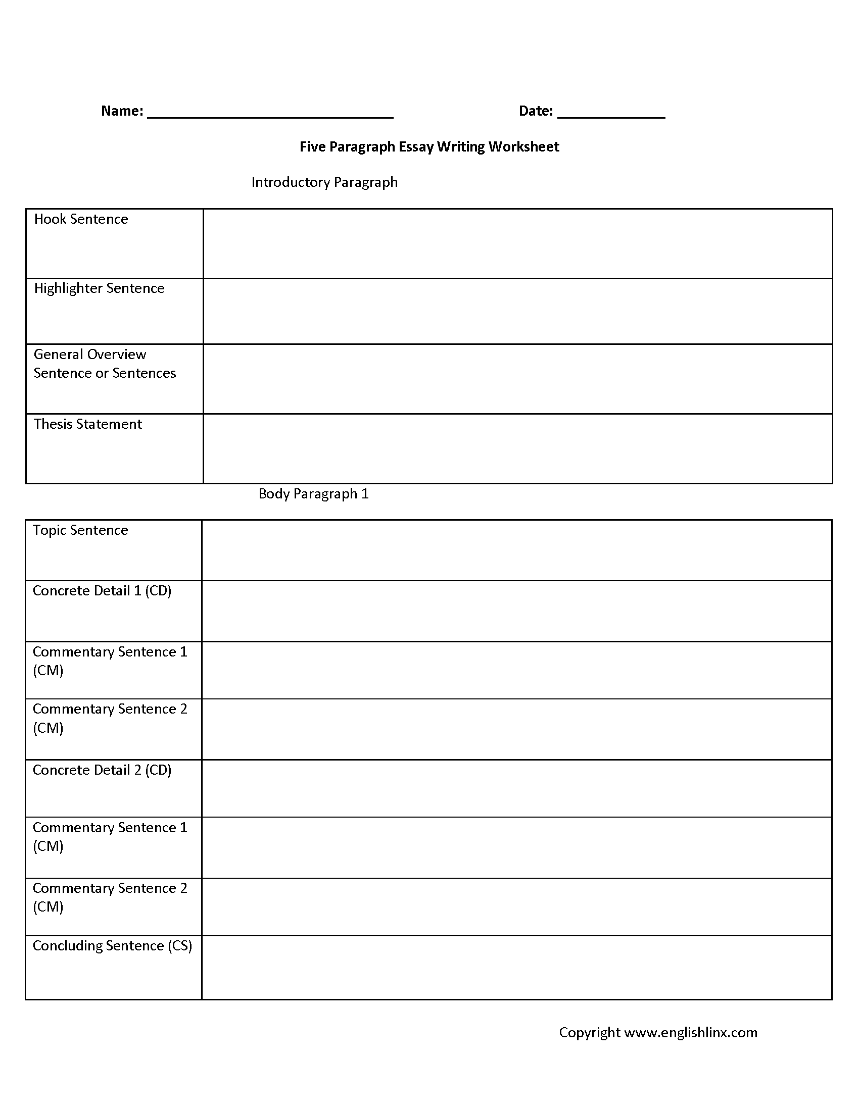 Narrative Writing Worksheets 3rd Grade