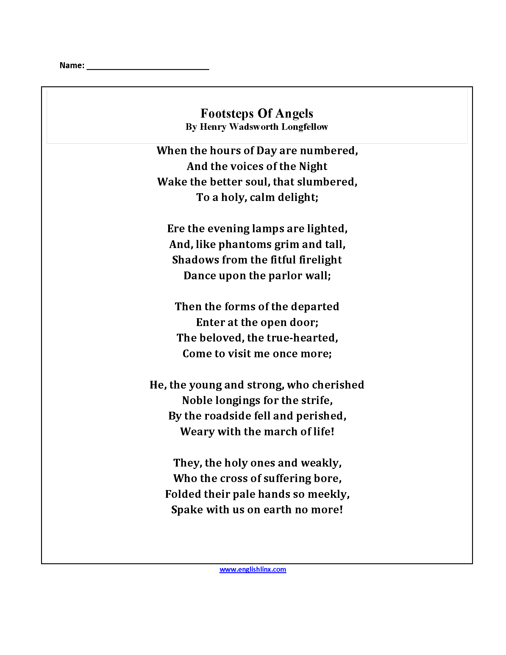 Worksheet Poetry Worksheets Middle School Grass Fedjp